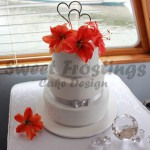 Classic Tiger Lilly Wedding Cake