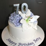 Flower Arrangement Birthday Cake