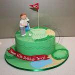 Golfing Green Cake