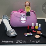 Handbag Shoe Makeup Cake