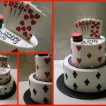 Poker Game Birthday Cake