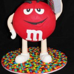 Red M&M Birthday Cake