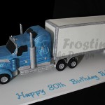 Semi Trailer Birthday Cake