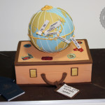 Travel Suitcase World Glove Cake