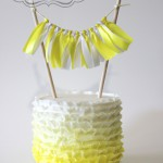 Yellow Ruffle Birthday Cake