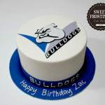 Bulldogs NRL Birthday Cake