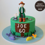 fishing man cake