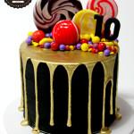 Gold Drip Birthday Cake
