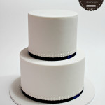 Simple Piped Wedding Cake
