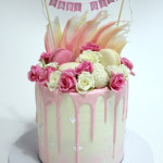 Rose Baby Shower Cake